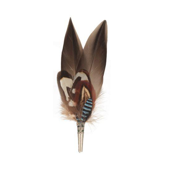 Hut-Breiter Hutfeder aus echten Hahnen-, Fasan- und Eichelhäherfedern