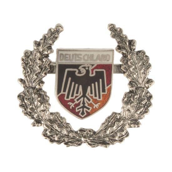 Hut-Breiter Hutanstecker Deutschlandwappen mit Ehrenkranz