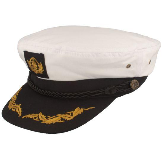 Balke Kapitänsmütze mit Anker und Stickerei