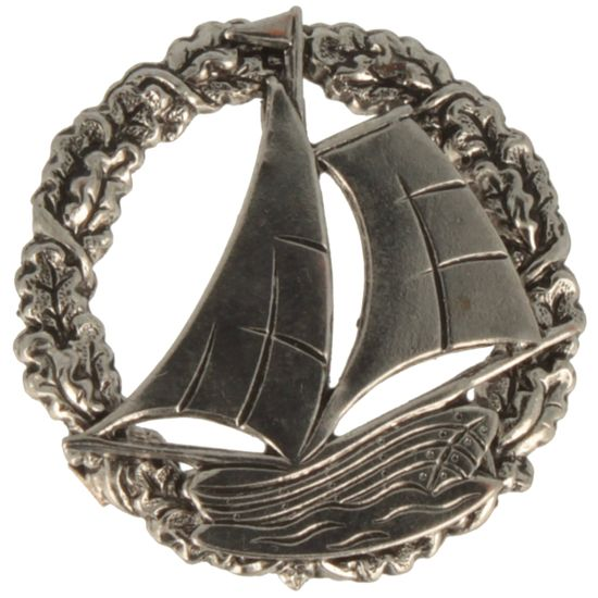 Hut-Breiter Hutanstecker Segelschiff mit Eichelkranz