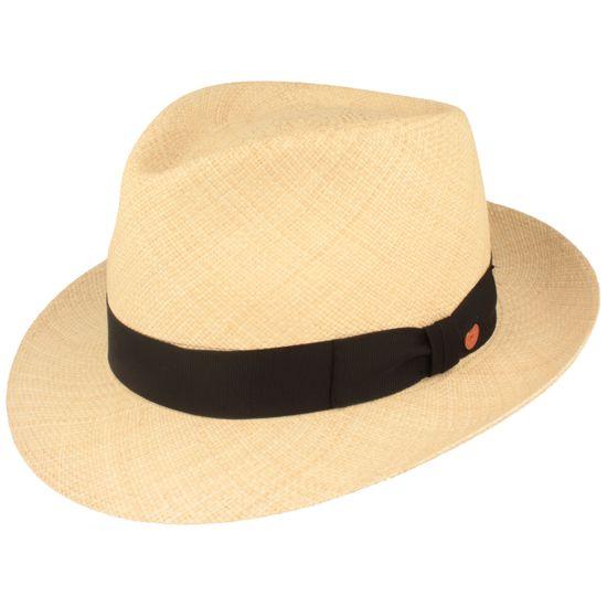 Mayser Hochwertiger wasserabweisender Panama Hut Strohhut mit  UV-Schutz 80