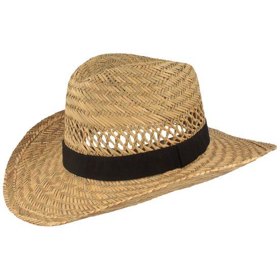 Hut-Breiter luftiger Cowboy Strohhut mit Ripsbandgarnitur aus 100% Stroh