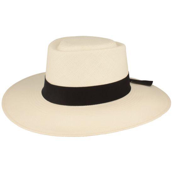 Hut-Breiter feiner Original Damen Panamahut mit Ripsband-Garnitur mit modischer Schleife