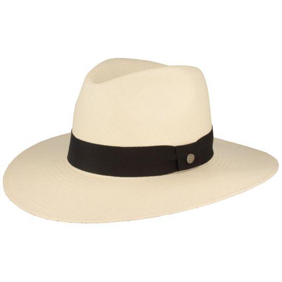 Hut-Breiter feiner original Panama Hut Strohhut mit Ripsband-Garnitur und UV-Schutz 50+