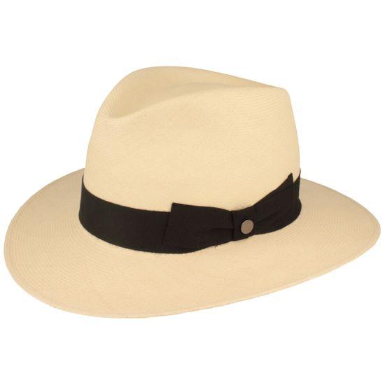 Hut-Breiter ultrafeiner hochwertiger Montechristi Ultrafino Panama Hut Strohhut mit Ripsband-Garnitur mit seitlicher Schleife UV Schutz 50+
