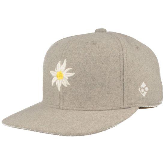 Bavarian Caps Flat Brim Snapback Baseball-Cap mit Edelweiss-Stickerei