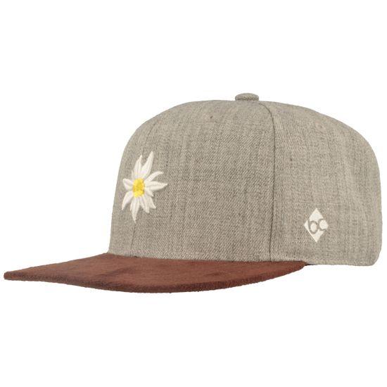 Bavarian Caps verstellbare Baseball-Cap mit Edelweiss-Stickerei