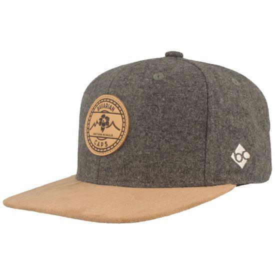 Bavarian Caps Flat Brim Snapback Baseball-Cap Alpinum Enzian