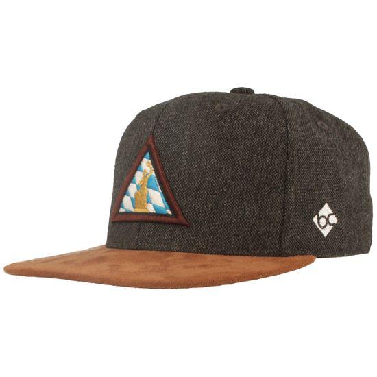 Bavarian Caps Flat Brim Wiesn Baseball-Cap mit Bavaria-Rauten Stickerei