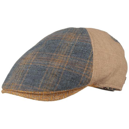 Alfonso D'Este 6-teilige Sommermütze Flatcap aus 100% Leinen