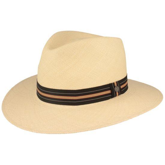 Hut-Breiter modischer Panama Hut Strohhut mit 4-Farbiger Ripsband-Garnitur mit UV-Schutz 50+