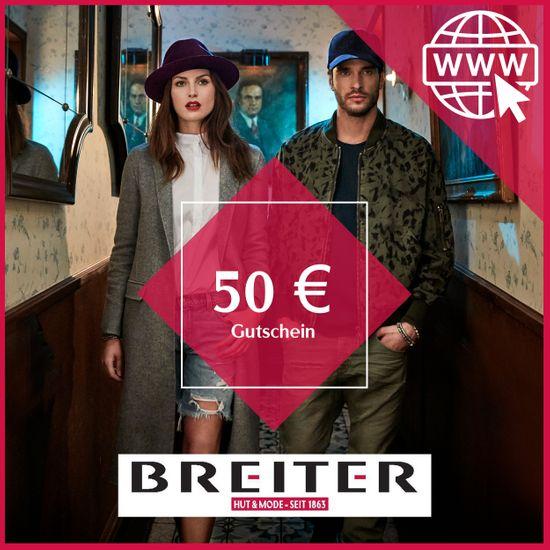 Hut Breiter Online Gutschein 50 €