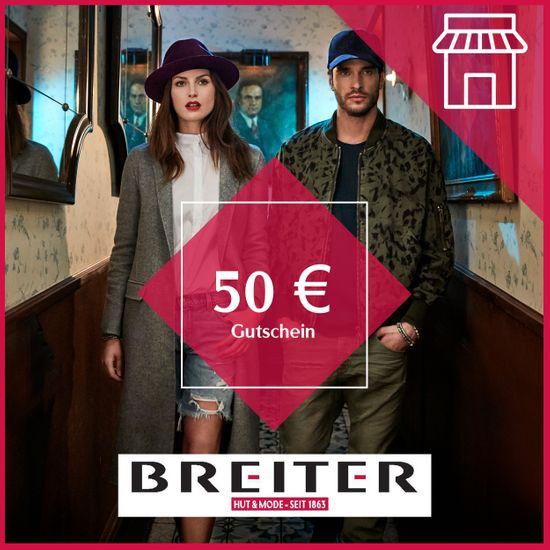 Hut Breiter Filialen Gutschein 50 €