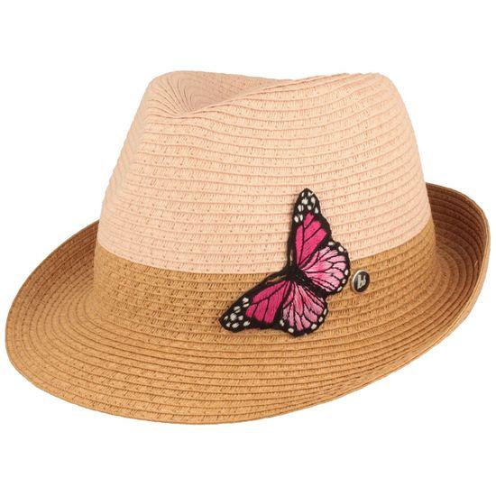 Bruno Banani Borten-Stroh Trilby mit Schmetterling
