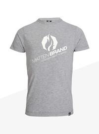 """T-Shirt """"Na Logo"""" grau/weiß 001"""