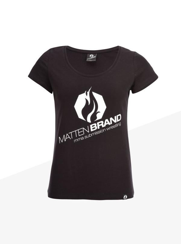 """T-Shirt Damen """"Na Logo"""" schwarz/weiß"""