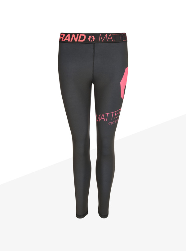 "Leggings ""Na Logo"" Woman schwarz/pink"