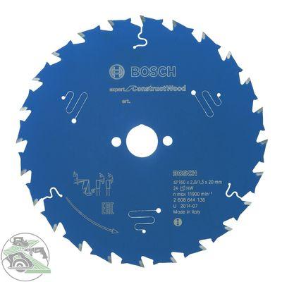 Bosch Kreissägeblatt Expert für Holz 160 Z 24 HM Sägeblatt Tauchsäge 2608644136