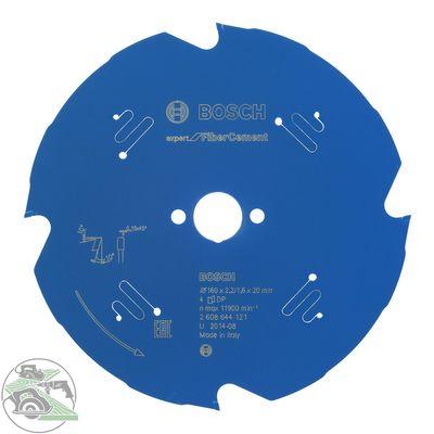 Bosch Kreissägeblatt Expert Fiber Cement 160 x 20 mm Z4 HM Sägeblatt Tauchsäge