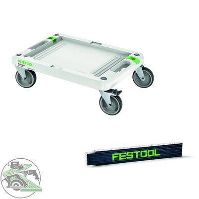 Festool Rollbrett SYS Cart RB 360 x 520 mm 495020 Systainer Sortainer + Maßstab