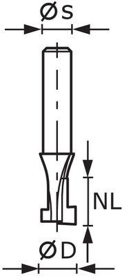 Festool T-Nutfräser HM D10,5/NL13 S8mm 491035 Fräser Oberfräse  – Bild 3