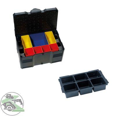 Tanos MINI Systainer T-Loc III Boxeneinsatz 6-fach anthrazit 80590835 Koffer Box