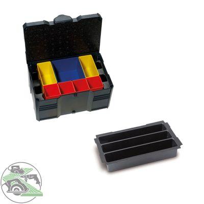 Tanos MINI Systainer T-Loc III Boxeneinsatz 3-fach anthrazit 80590831 Koffer Box