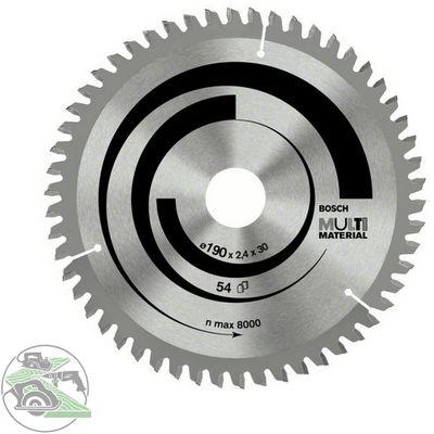 Bosch Kreissägeblatt Multi Material 190 x 2,4x30 mm Z54 Handkreissäge 2608640509