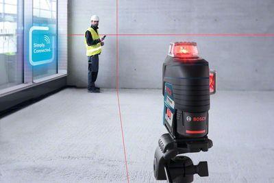 Bosch Linienlaser GLL 3-80 C Halterung BM1 L-Boxx 2,0 Ah Akku Ladegerät – Bild 5