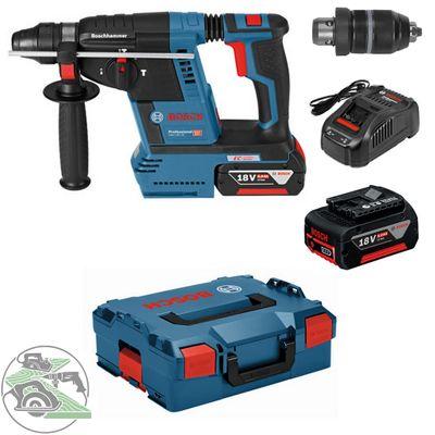 Bosch Akku-Bohrhammer GBH 18V-26F 2x5,0Ah + L-Boxx 0611910007 SDS-plus 2 Akkus