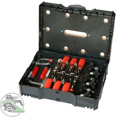 Bessey Schnellspanner Schraubzwinge Systainer STC-S-MFT Holzeinlage 20 mm Bohrung – Bild 1