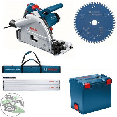 Bosch Tauchkreissäge GKT 55 GCE L-Boxx + Set 2x FSN 1600 + HM-Blatt 160x20 Z. 48