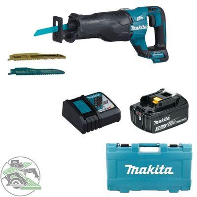 Makita Akku-Reciprosäge DJR187ZK 18V + Ladegerät DC18RC + Akku 3,0 Ah BL 1830B