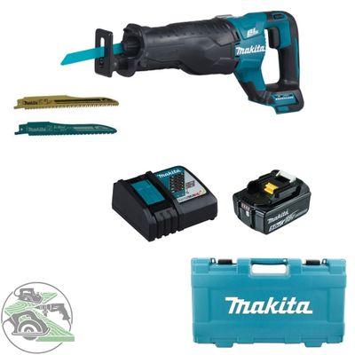 Makita Akku-Reciprosäge DJR187ZK 18V + Ladegerät DC18RC + Akku 5,0 Ah BL 1850B
