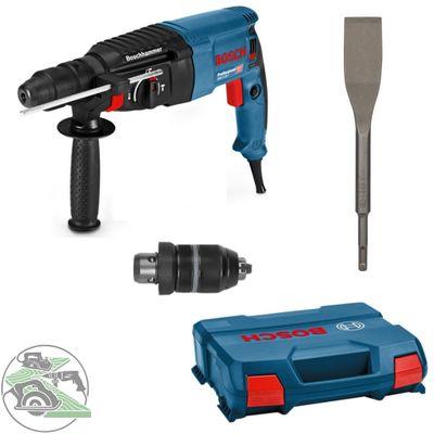 Bosch Bohrhammer GBH 2-26 F SSBF L-Case 06112A4000 + Fliesenmeißel SDS-plus