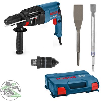 Bosch Bohrhammer GBH 2-26 F SSBF L-Case 06112A4000 + Flachmeißel + Fliesenmeißel