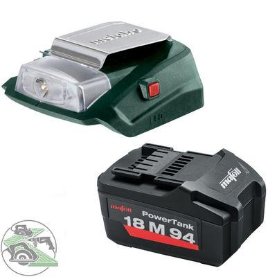 Mafell Akku 18M 94 18 V 5,2 Ah + Metabo USB Adapter mit LED Licht CAS System – Bild 1