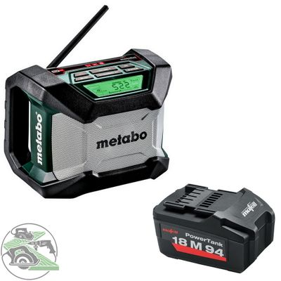 Metabo Akku Baustellenradio R 12-18 BT 18V Bluetooth + Mafell Akku 18M 94 5,2 Ah – Bild 1