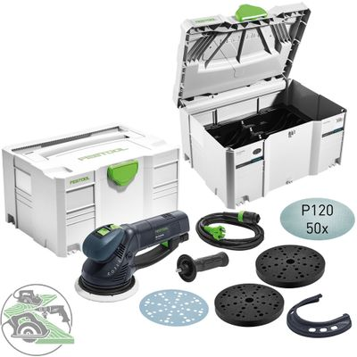 Festool Getriebe-Exzenterschleifer RO 150 Camp-Set Tellerschleifer 575967 Aktion – Bild 1