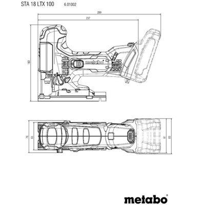 Metabo Akku Stichsäge STA 18 LTX 100 1x5,5Ah 1x8,0Ah LiHD Akku 18 V Metaloc CAS – Bild 2