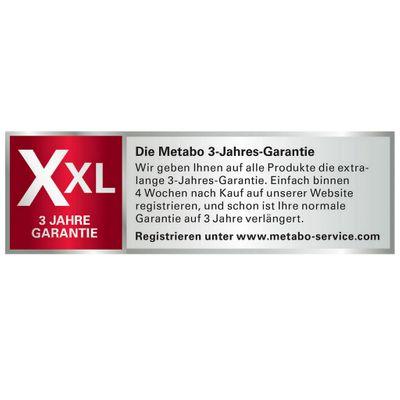 Metabo Akku Winkelschleifer WB 18 LTX BL 125 Quick 2 x 4,0 Ah Li-ION im Metaloc – Bild 9