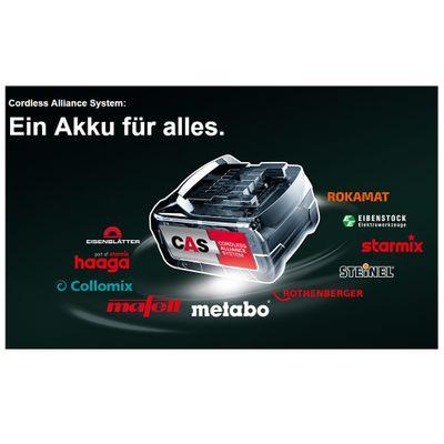 Metabo Akku Winkelschleifer WB 18 LTX BL 125 Quick 1x5,5Ah 1x8,0Ah LiHD Metaloc – Bild 10