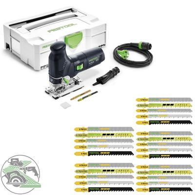 Festool Pendelstichsäge PS 300 EQ-Plus 561445 + Stichsägeblatt-Set STS-Sort/25 W
