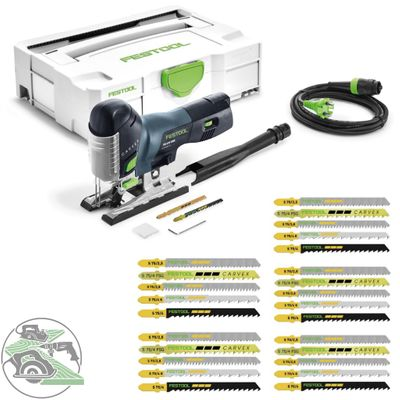 Festool Pendelstichsäge PS420 EBQ-Plus 561587 + Stichsägeblatt-Set STS-Sort/25 W