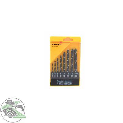 Famag Holzspiralbohrersatz CV 8-tlg Satz  3, 4, 5, 6, 7, 8, 9, 10 mm Durchmesser