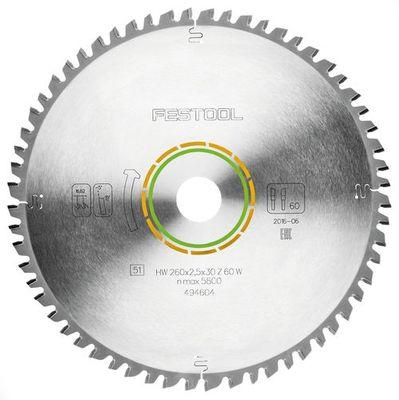 Festool Universal Sägeblatt 260 x 2,5 x 30 mm W 60 494604 für KS 120 KS 88 – Bild 2
