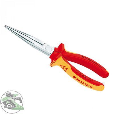 KNIPEX Flachrundzange mit Schneide verchromt 200 mm 2616200