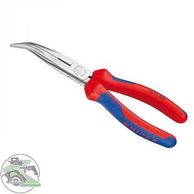KNIPEX Flachrundzange mit Schneide schwarz atramentiert 200 mm Nr. 26 22 200