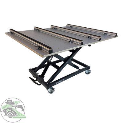 Ruwi Set Arbeitstisch HPL Schwenk-Lochrasterplatte mit Schubkasten und Stauraum