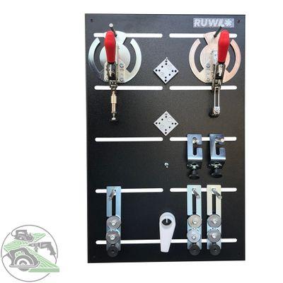 Ruwi Spannsystem Lochrasterplatte, Spannwerkzeug Set 2 Werkzeugset